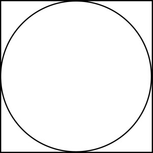 Circle in square