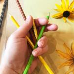 Hands pencils